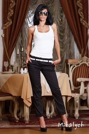 М163 Женские брюки укороченные  черный, фото 2
