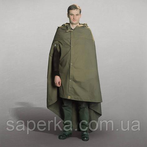 Плащ-палатка солдатская  СССР. Кожаные кольца, фото 2