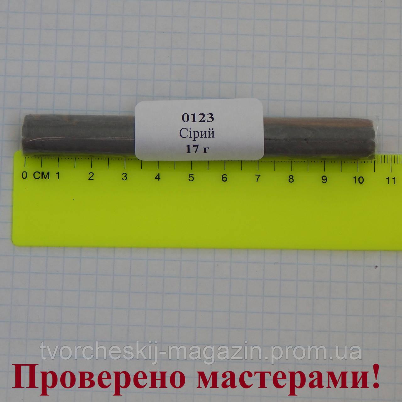 Полимерная глина Пластишка, цвет серый 17 г.