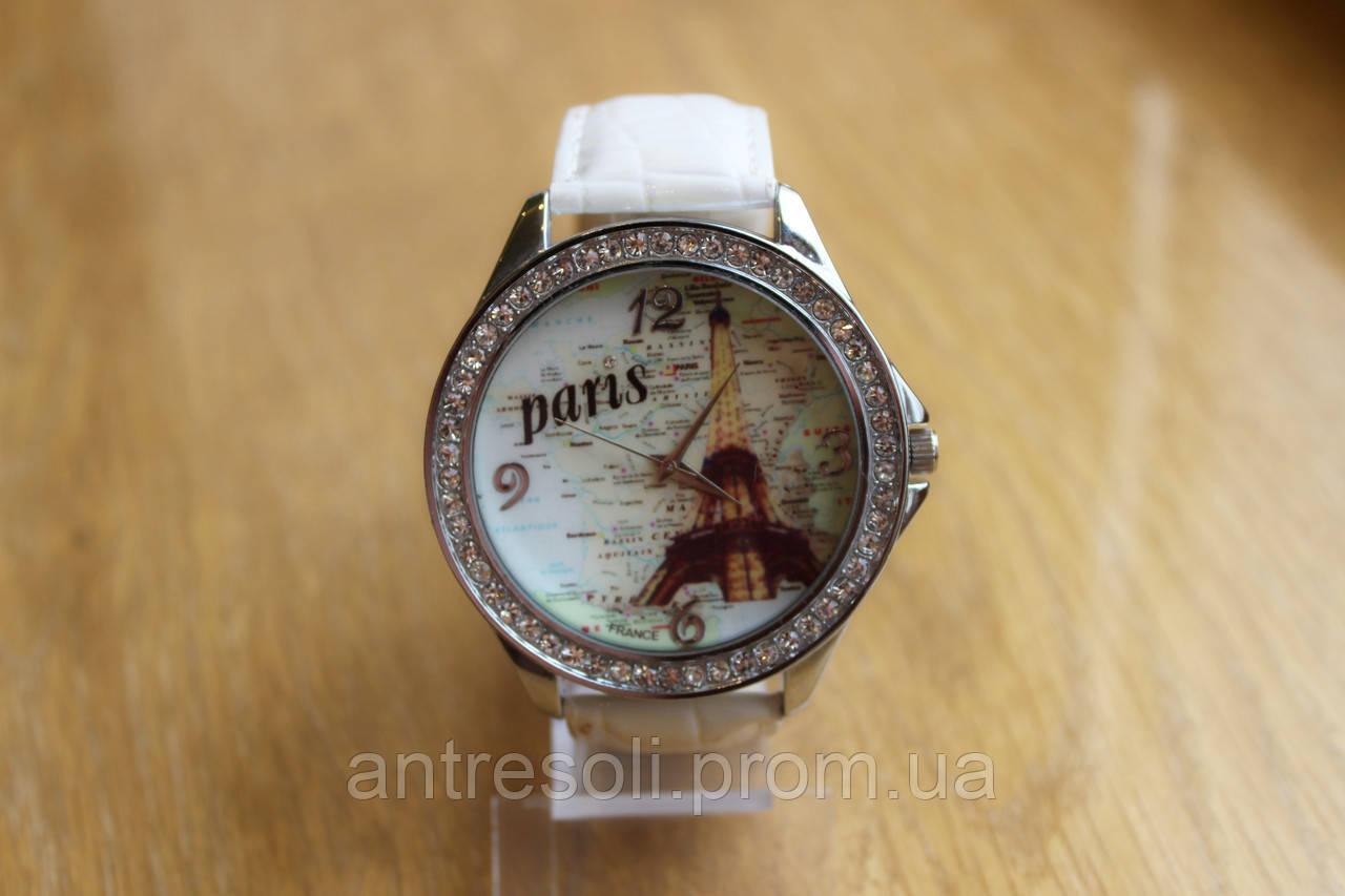 Наручные часы женские с белым ремешком код 51 УЦЕНКА