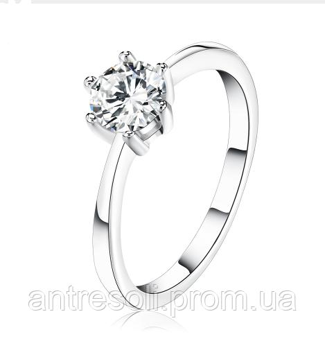 Позолоченное кольцо с кристалламими код 1152 р 15.5,16,16.5 16