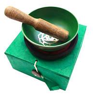 Чаша поющая с резонатором в коробке, зелёная (8,5)
