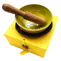 Чаша поющая с резонатором в коробке, жёлтая (8,5)