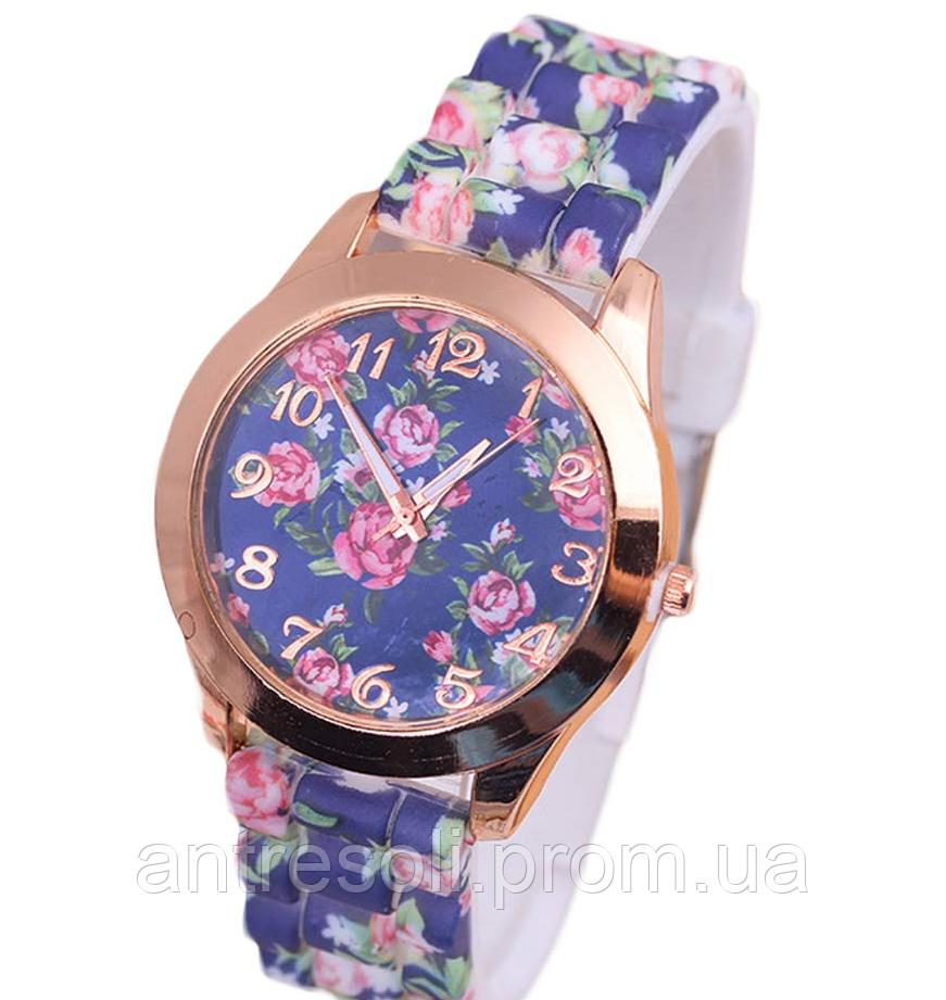 Наручные часы женские с цветами код 284