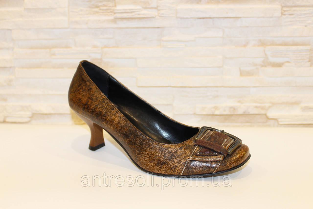 Туфли женские коричневые Т30 р 35 УЦЕНКА 35