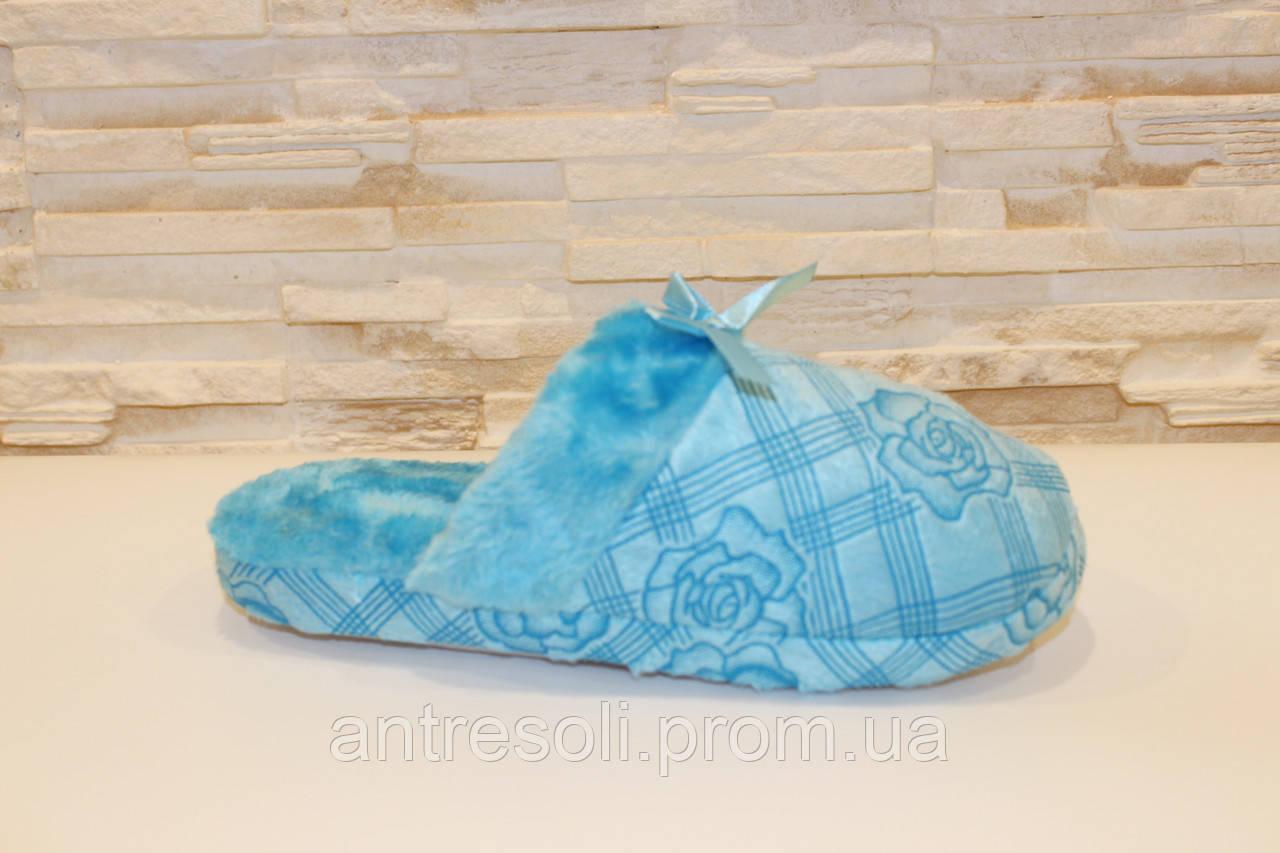 Тапочки комнатные женские голубые Тп8 р 38 39