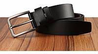 Ремень мужской кожаный классический CETIRI (черный)