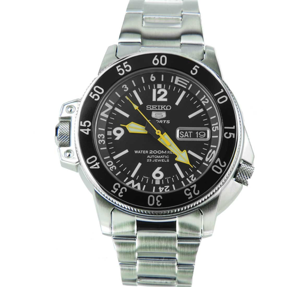 Часы Seiko 5 Sports SKZ211K1 Automatic Map Meter 7S36