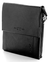 Мужская кожаная сумка планшет ST Две ручки