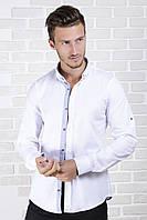 Рубашка приталенная белая 06-5, фото 1