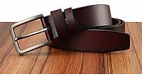 Ремень мужской кожаный классический CETIRI (коричневый)