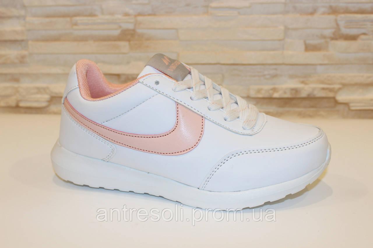 1d253cbc Кроссовки женские белые с розовым Т844 р 36 39: 368 грн ...