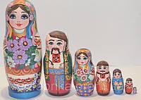 Украинская расписная матрёшка из 7-ми штук маленькая 708
