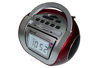 Колонка Бум-Бокс Golon RX-656Q+караоке+часы ZN