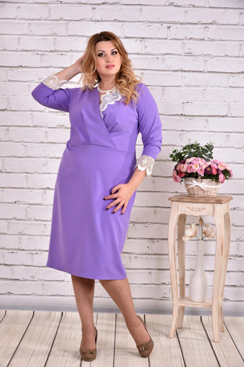 Сиреневый платье для полных