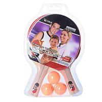 Ракетки для настольного тенниса MS 1250 (3 шарика 40мм в комплекте)