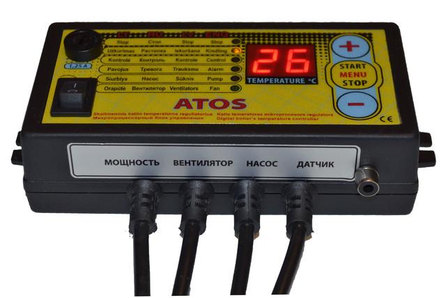 Блок управления Atos c гнездом под комнатный термостат