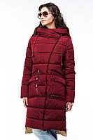 Женское пальто модного пошива красное
