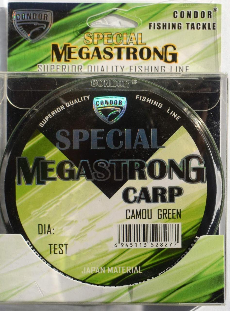 Леска для рыбалки Кондор MegaStrong Special Carp CAMOU GREEN, 0,35мм, 300м