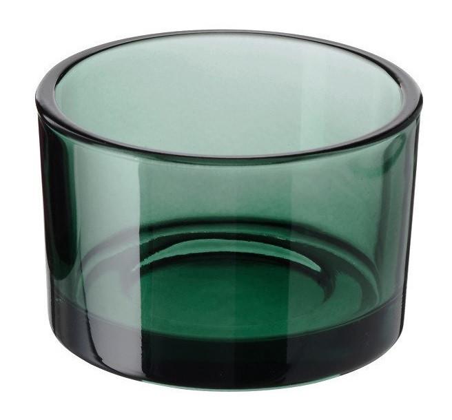 Подсвечник стеклянный зеленый для чайной свечи 5 см