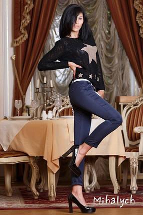 М163 Женские брюки укороченные синий, фото 2