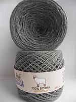 Пряжа 100% шерсть мериноса №262 серый