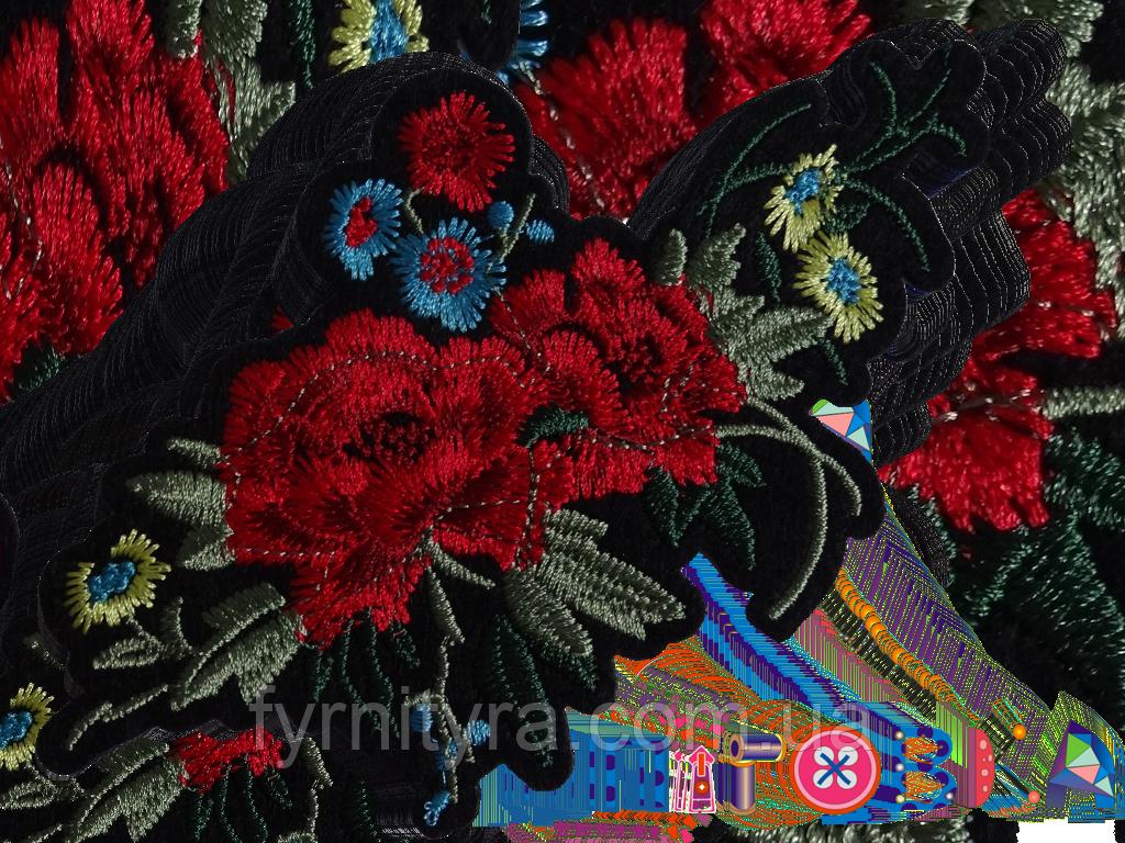 Аппликация термоклеевая цветок 1548