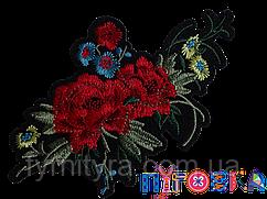 Аппликация термоклеевая 3D цветок 1548