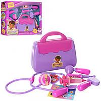 """Детский игрушечный набор доктора """"Доктор Плюшева"""" 8616 ДП,чемодан,стетоскоп,инструменты, 6 предм,"""