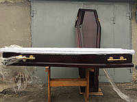 """Гроб лакированный шестигранный """"Металик"""""""