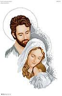 """Схема для вышивки бисером """"Святое семейство"""" серебро 2016"""