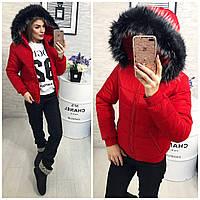 Женский теплый костюм Красный