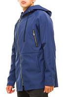 Куртка мужская с капюшоном, плащевка на трикотажной основе, куртка демисезонная
