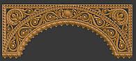 3D модель резной арки