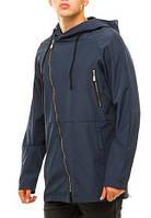Куртка мужская с капюшоном, плащевка на трикотажной основе, куртка демисезонная 52