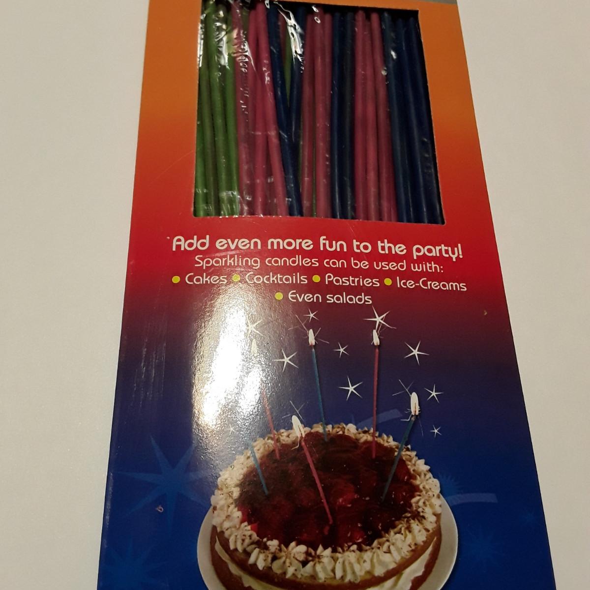 """Свічки для торта тонкі """"Спагетті"""", 40 шт/уп"""