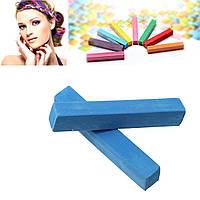 Мел для временной покраски волос, Синий, 65 мм x 10 мм