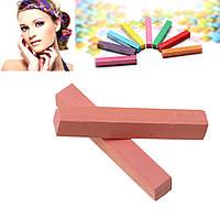 Мел для временной покраски волос, Оранжево-розовый, 65 мм x 10 мм