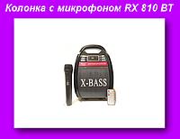 Радио RX 810 BT bluetooth,Портативная акустическая система RX-810BT,Колонка с микрофоном USB-FM