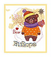 """ВТ-181 набор для вышивки крестиком Crystal Art """"Детский мир. Европа"""""""