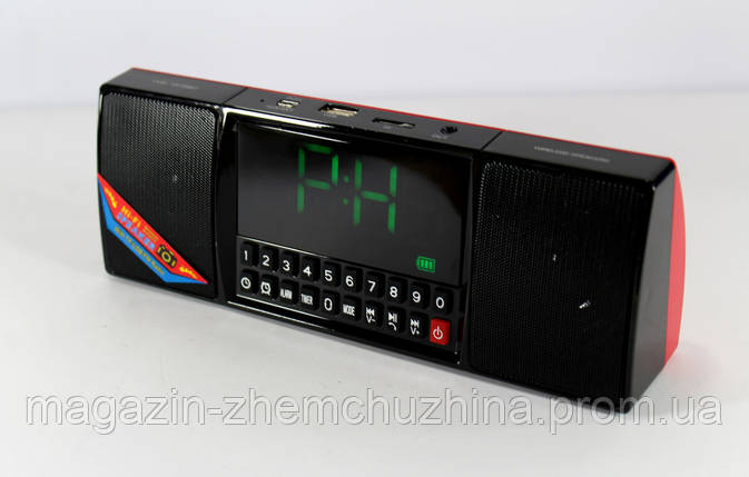 Моб.Колонка  SPS  WS 1515 BT+ Clock,Портативная Bluetooth колонка!Акция, фото 2
