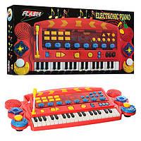 Синтезатор SK 6868 (12шт) 37клавиш, свет,22 мелодии, встр-й микрофон, на бат-ке, в кор-ке, 68-34-8см