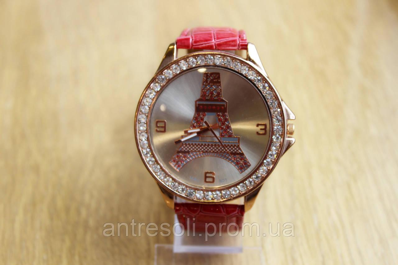 Наручные часы женские с красным ремешком код 50 УЦЕНКА