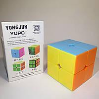 Цветной кубик Рубика YJ Yupo 2×2 Color (кубик-рубика)