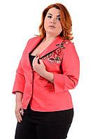 Жіночий літній піджак Квітка батал, фото 1