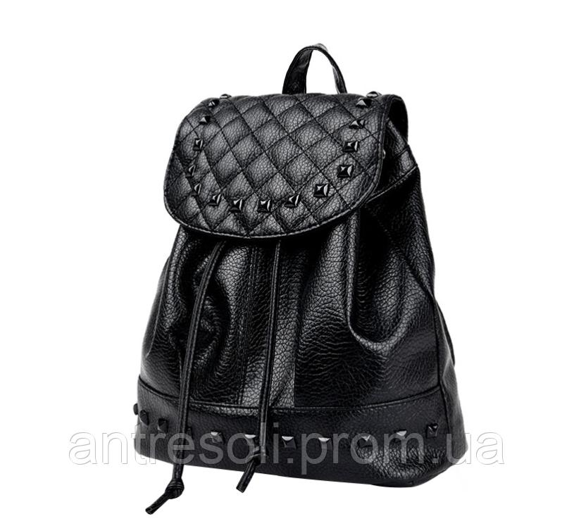 Рюкзак черный женский код 3-293