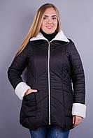 Ли. Зимняя женская куртка больших размеров. Черный.