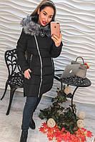 Женская модная зимняя куртка-косуха с капюшоном (2 цвета)