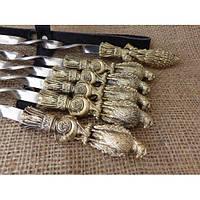 Набор шампуров Птицы на подарок в кожаном колчане