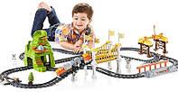 Fisher Price Железная дорога c поездом, движение, свет, звук! EZ Play Railway Green Mountain Pass, Оригинал!
